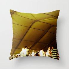 Golden Glimmer Throw Pillow