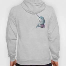 Narwhal Teatime (over the heart) Hoody