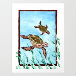 Mother Turtle Art Print