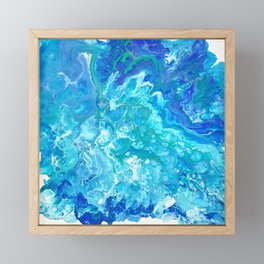 Aqua Ocean Blue Framed Mini Art Print