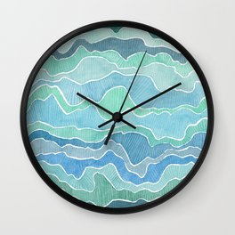 water, ripples and currents Wall Clock
