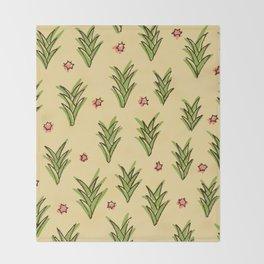 ananas leaves Throw Blanket