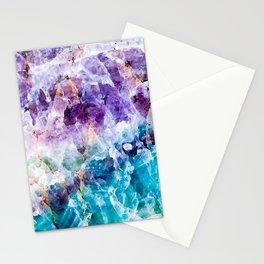 Multicolor quartz texture Stationery Cards