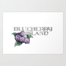 Blueberry Island Art Print