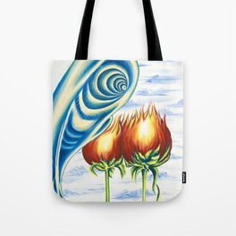 Poppie Flowers Tote Bag