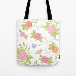 Garden of Fairies Pattern Tote Bag