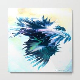 Blue Dragon Dances Metal Print