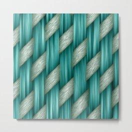 Basket Weave Metal Print