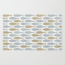 shoal of herring Rug