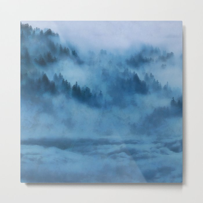 Forest Above the Clouds Metal Print