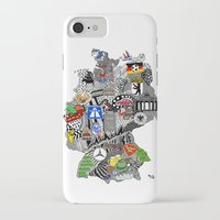 germany iPhone & iPod Cases featuring Germany Doodle by Rebecca Bear