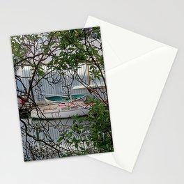 BOATHOUSE THROUGH MADRONA TREES Stationery Cards