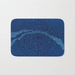 Antique Constellation Chart Bath Mat