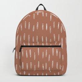 Boho Raindrops Abstract Pattern, Terracotta Backpack