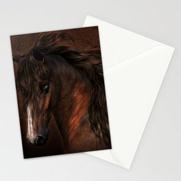 Horse with romantic look Stationery Cards