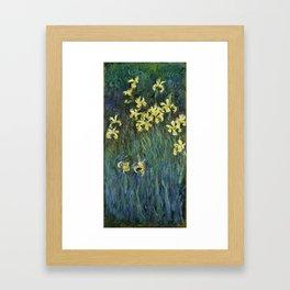 "Claude Monet ""Yellow irises"" Framed Art Print"