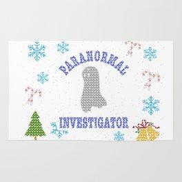 Paranormal Investigator Christmas Ugly Shirt Ghost Shirt Rug
