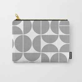 Mid Century Modern Geometric 04 Grey Carry-All Pouch