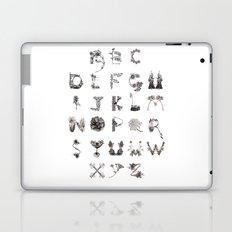 Floral Alphabet  Laptop & iPad Skin