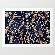 Skeleton Pile! Art Print