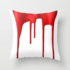 Red Splatter Throw Pillow