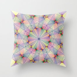 Primary and Secondary lines Throw Pillow