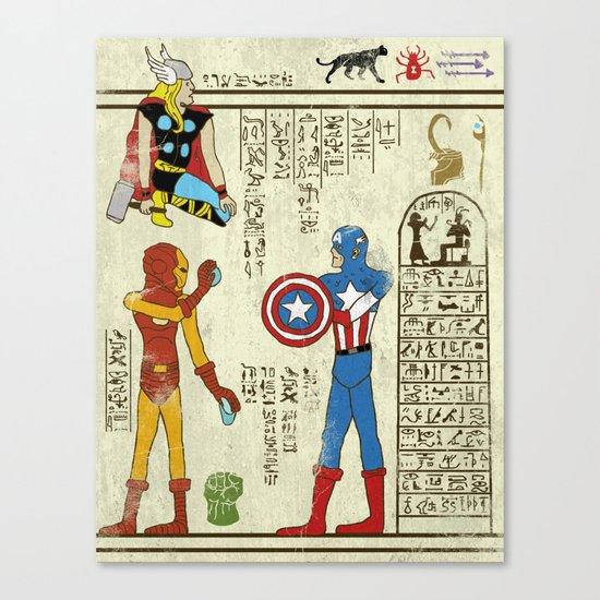 hero-glyphics: Avengers Canvas Print