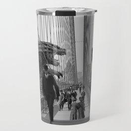 Old Time Godzilla vs. King Kong Travel Mug
