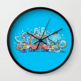 Octopus Carwash Wall Clock