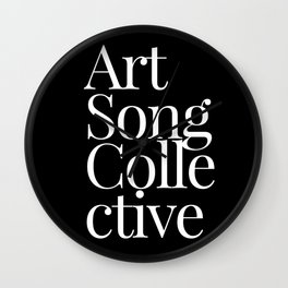Art Song Collective Wall Clock