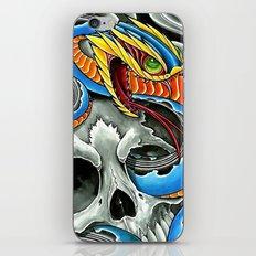 blue viper skull iPhone & iPod Skin