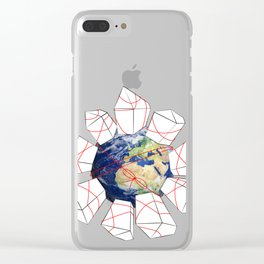 Wrapped to a Warped World Clear iPhone Case