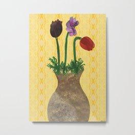 Les fleur Metal Print