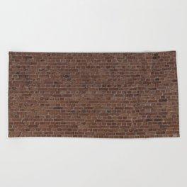 NYC Big Apple Manhattan City Brown Stone Brick Wall Beach Towel