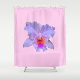 PINK ART TROPICAL CATTLEYA ORCHID FLOWER Shower Curtain