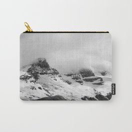 Mountain Minimalism Glacier Alberta   Black and White Photography Carry-All Pouch