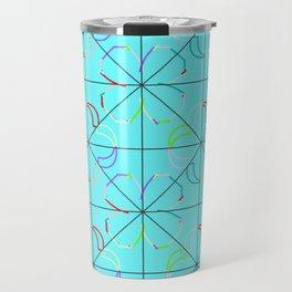 Motif bleu Travel Mug