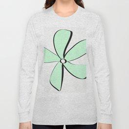 Green Daisy Long Sleeve T-shirt