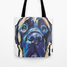 Fun ENGLISH MASTIFF Dog bright colorful Pop Art Painting by LEA Tote Bag