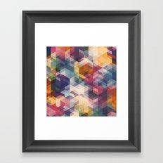 Cuben Curved #8 Framed Art Print