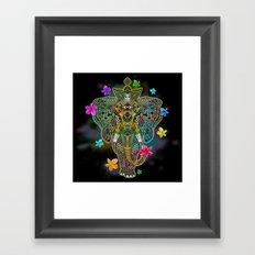 Elephant Zentangle Doodle Art  Framed Art Print