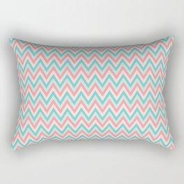 Pink & Blue Chevrons Rectangular Pillow