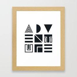 Geometric Adventure B&W Framed Art Print