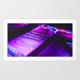 Neon Piano Art Print