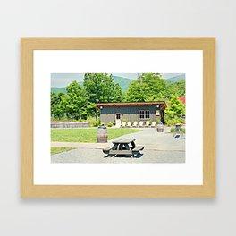 Little Shanty In The Hills Framed Art Print