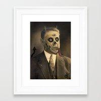 satan Framed Art Prints featuring Satan by Beery Method