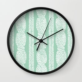 Cable Mint Wall Clock