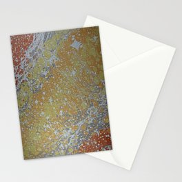 Custom Water Marbling -- Cosmos! Stationery Cards