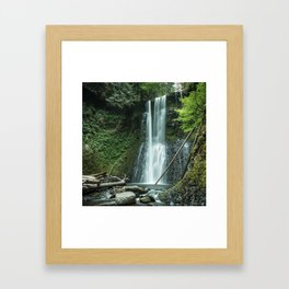 Ecola Falls in Oregon's Columbia River Gorge Framed Art Print