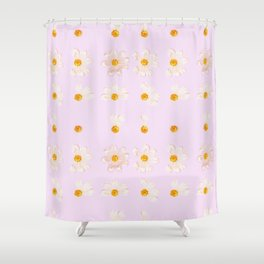 Love Me Not | Baby Pink Shower Curtain